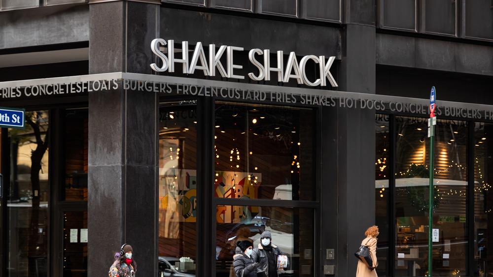 Outside of a Shake Shack