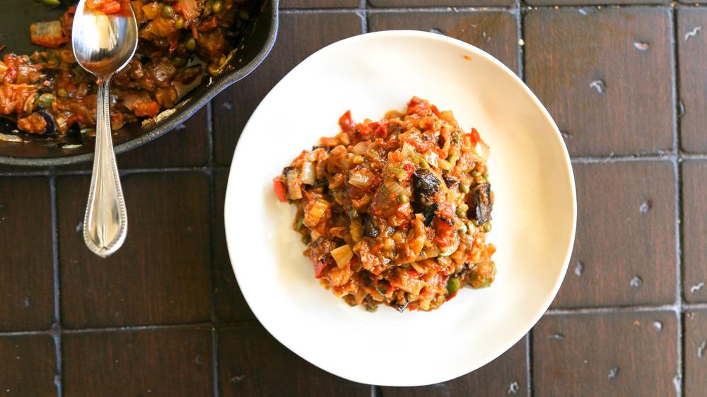caponata recipe served