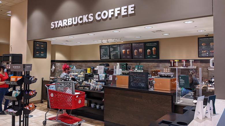 Starbucks inside a Target