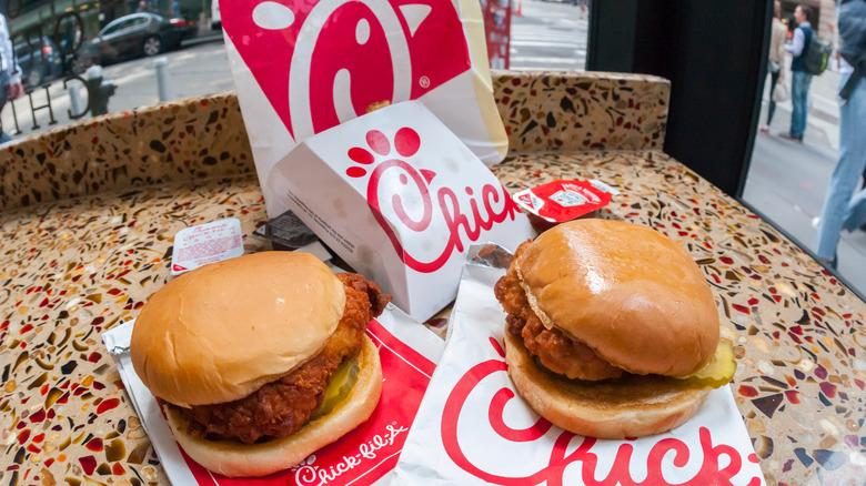 Chick-fil-A chicken sandwiches