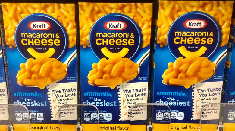 -January 19 ,2020, Several Boxes of Kraft Mac & Cheese on shelve at a grocery store
