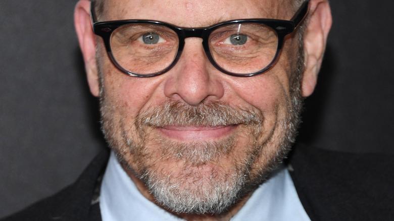 Alton Brown wearing glasses