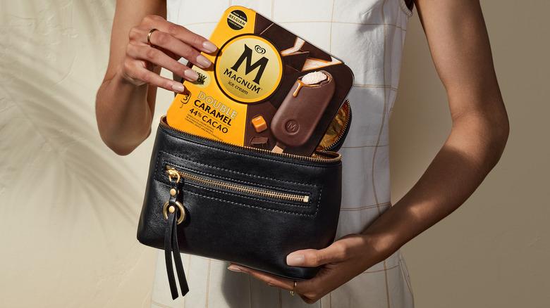 Mangum bars and leather purse