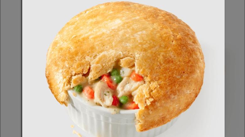 partially eaten KFC pot pie