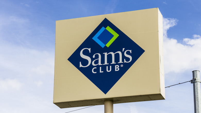 Sam's Club sign and clouds