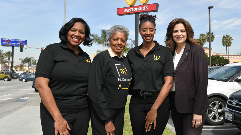 Compton McDonald's family owners with executive