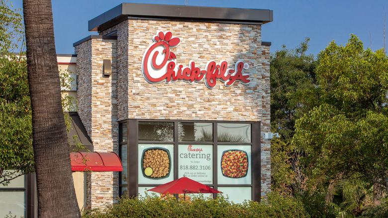 Chick-fil-A restaurant nestled in trees