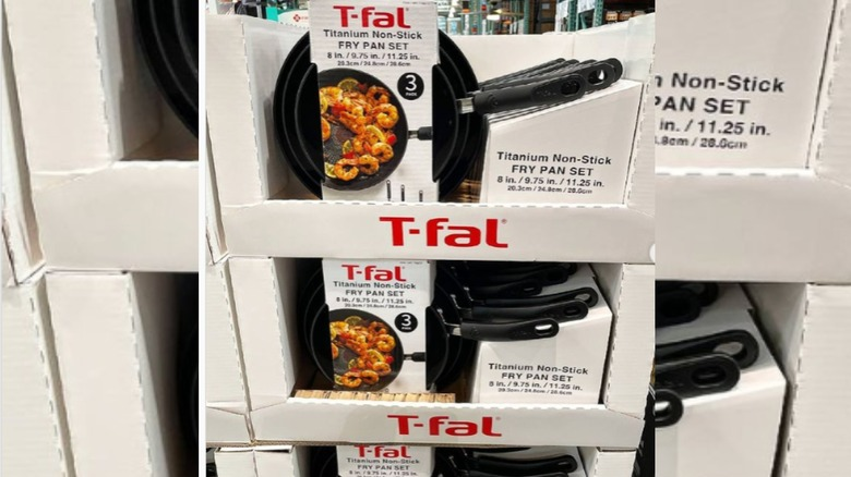 T-fal frying pan set at Costco