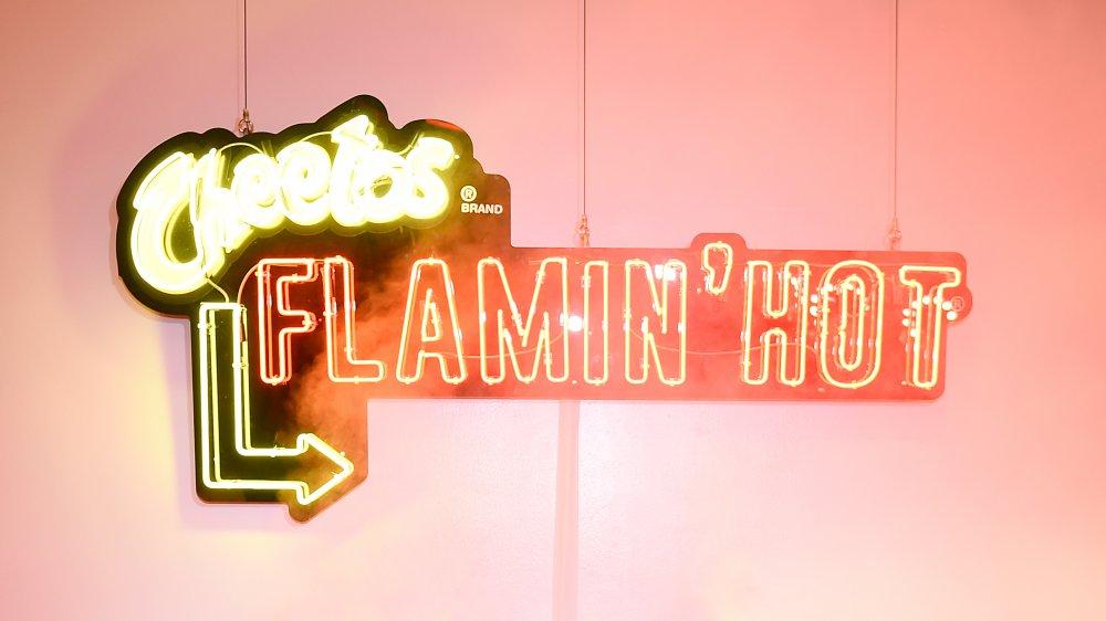 Flamin' Hot Cheetos neon sign
