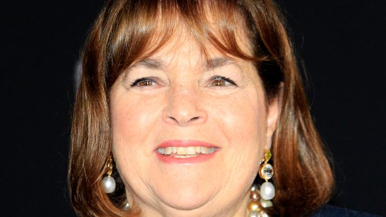 Ina Garten in earrings and smiling