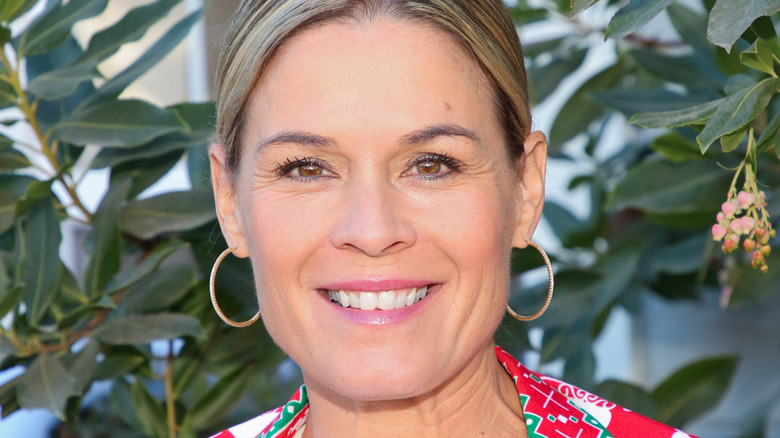"""Chef Cat Cora visits Hallmark Channel's """"Home & Family"""""""
