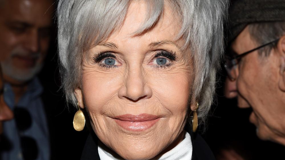 Jane Fonda with cropped hair