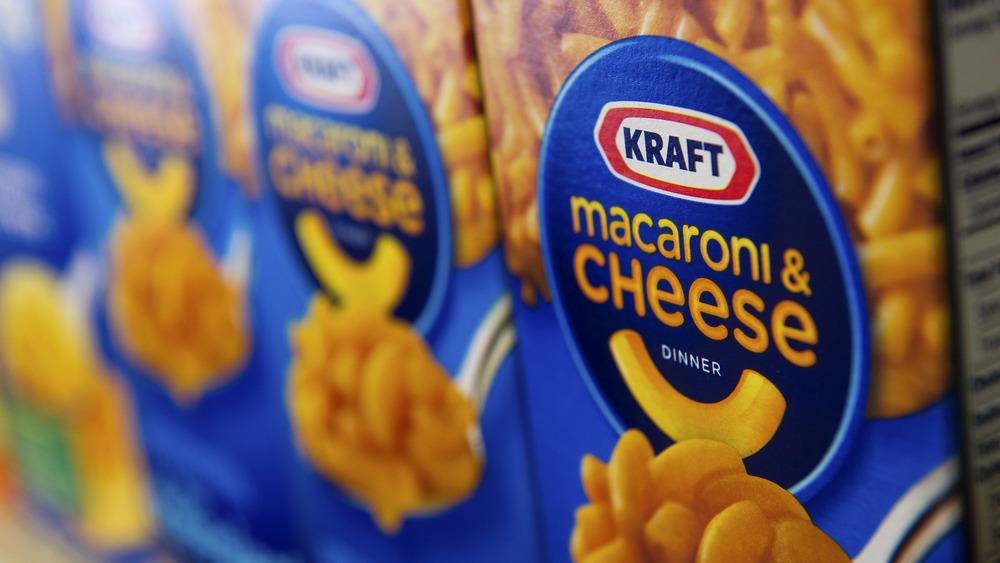 Kraft Macaroni & Cheese boxes