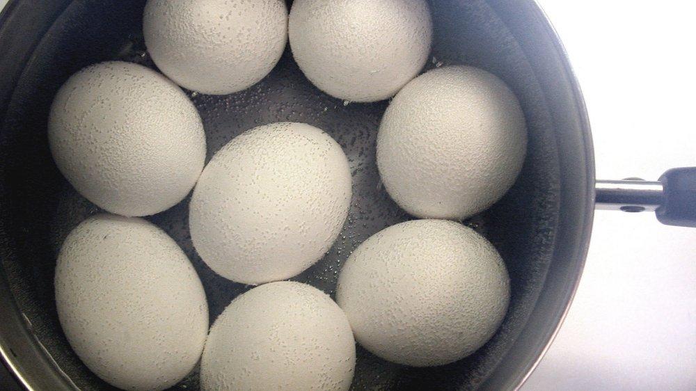 Eggs in a pot