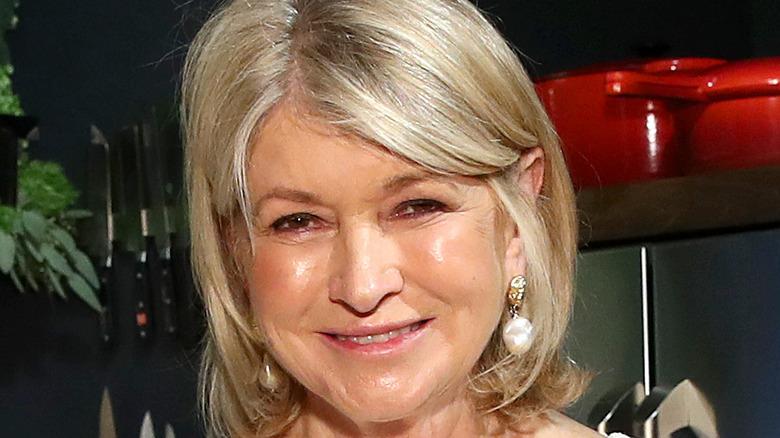 Martha Stewart in pearl earrings
