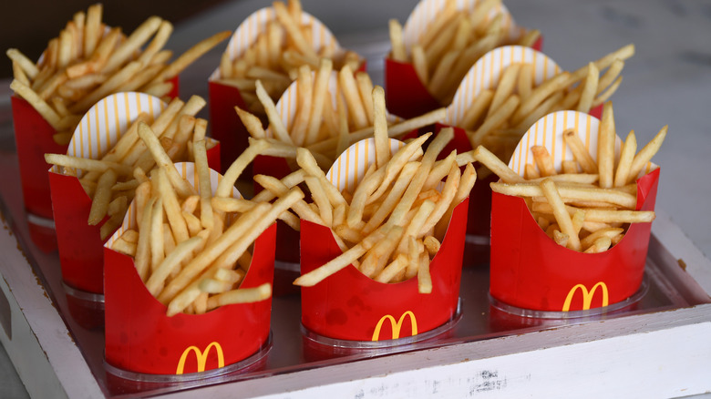 fries in boxes