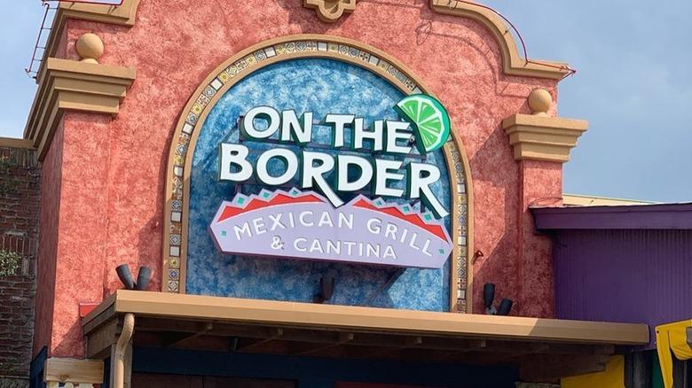 On The Border logo on restaurant entrance