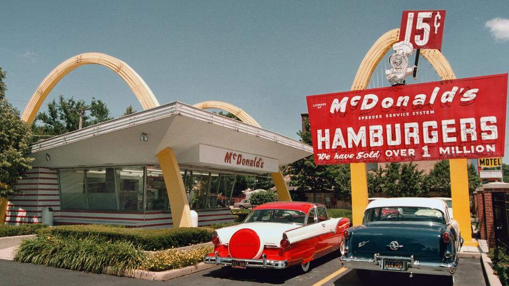 vintage mcdonalds burger stand