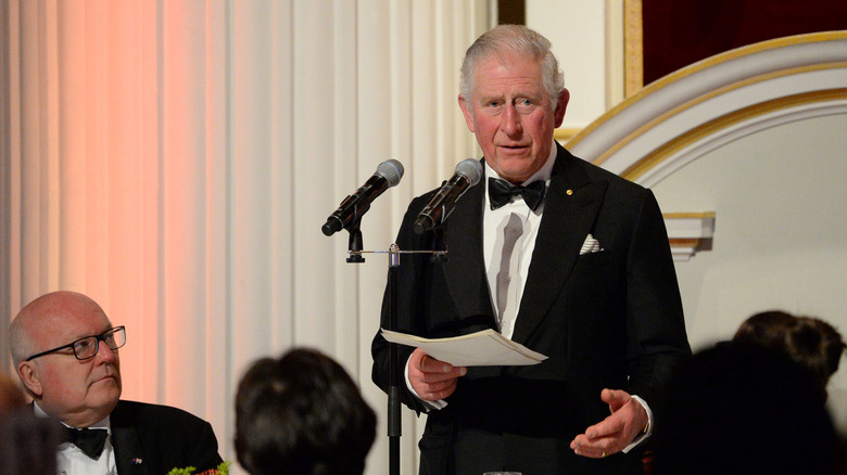Prince Charles gives a speech