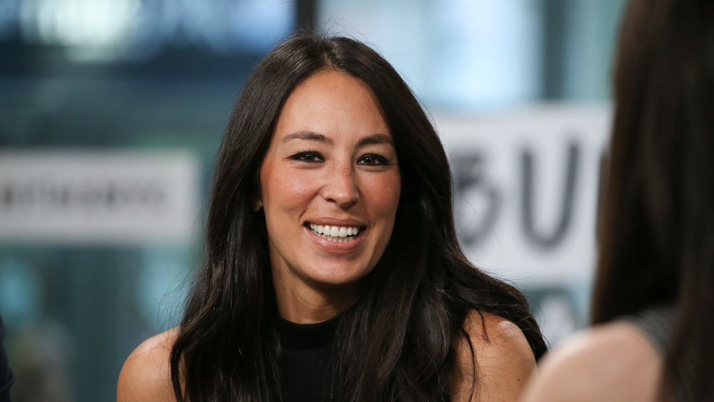 Joanna Gaines in a black top