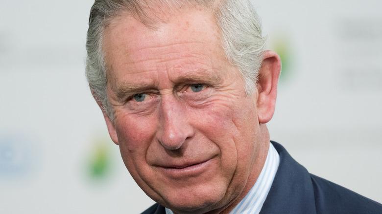 Prince Charles in dark blue suit