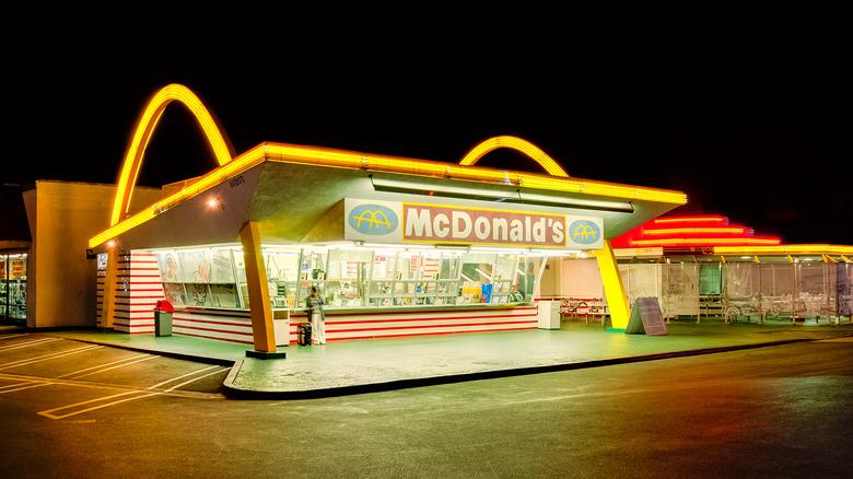 McDonald's at night