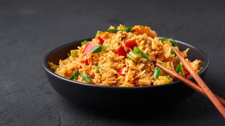 Big bowl of fried rice