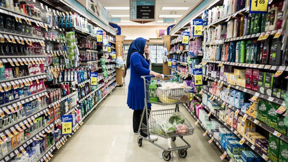 Woman shopping at Kroger