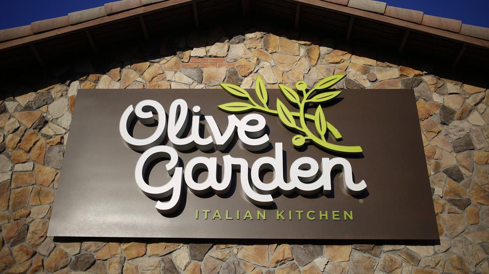 sunlit olive garden sign