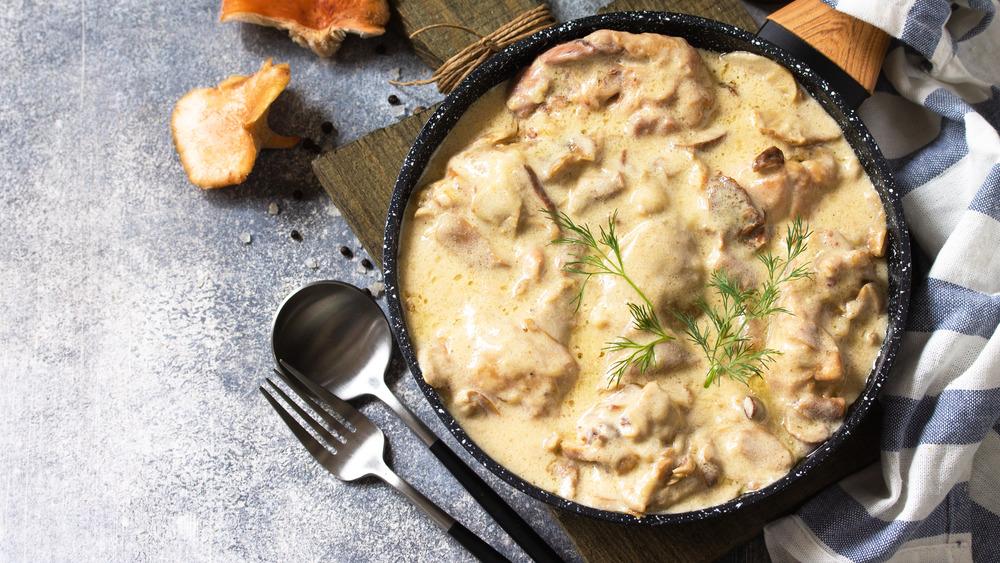 Creamy chicken dish