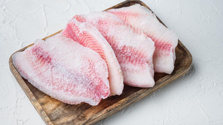 Frozen fish fillets