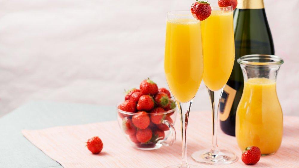 mimosa, champagne