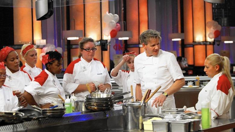 Chef Gordon Ramsay dresses down a contestant