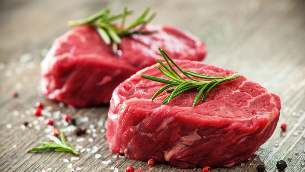 Duo of filet mignon steaks