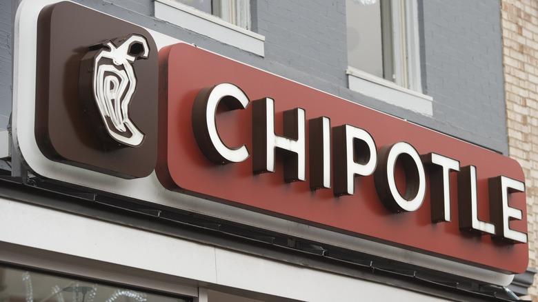 Chipotle restaurant sign