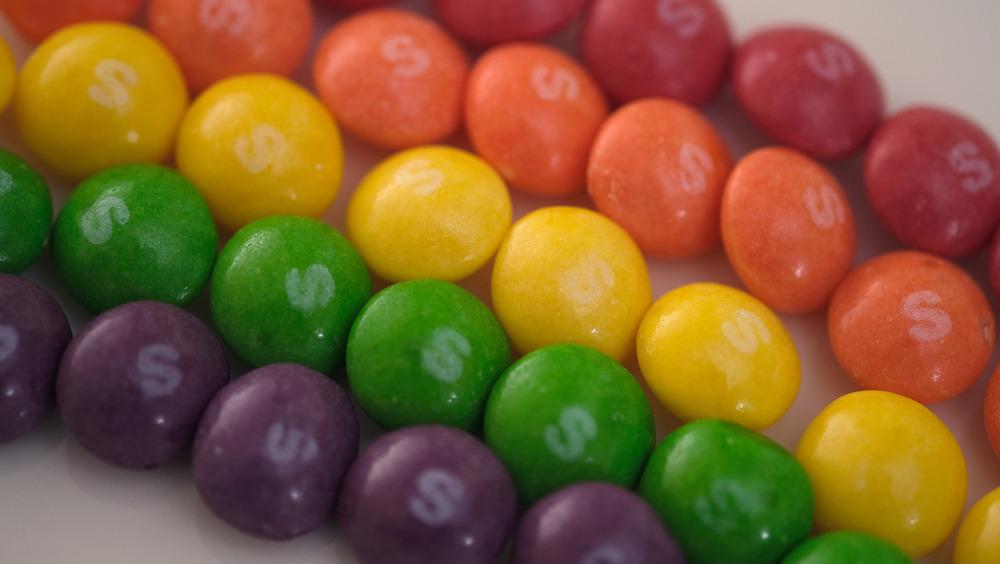 rainbow of Skittles