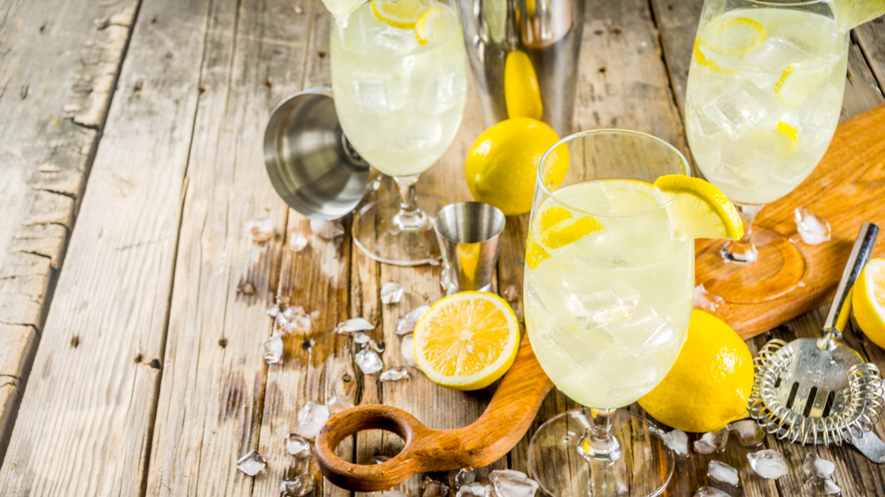 Cold St. Germain cocktail