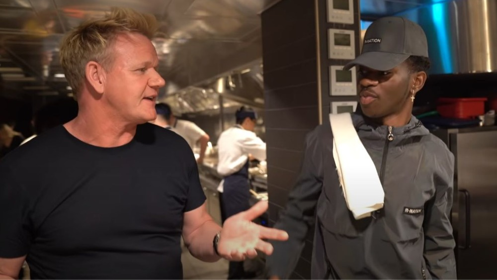 Lil Nas X and Gordon Ramsay in the kitchen