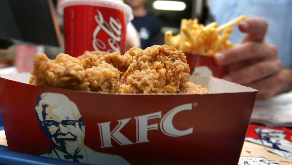 KFC chicken in container
