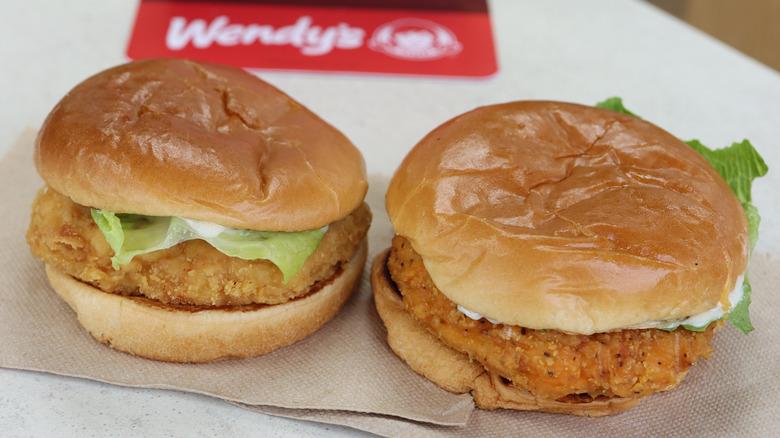 Wendy's Spicy Chicken Sandwiches