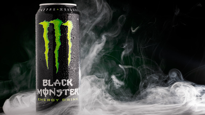 Monster energy drink can