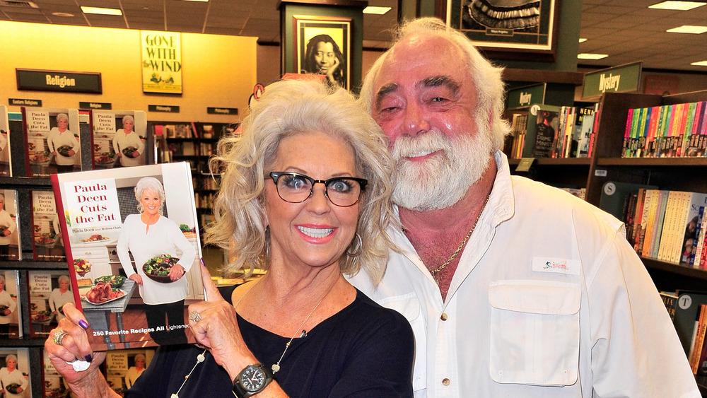 Paula Deen smiling with husband