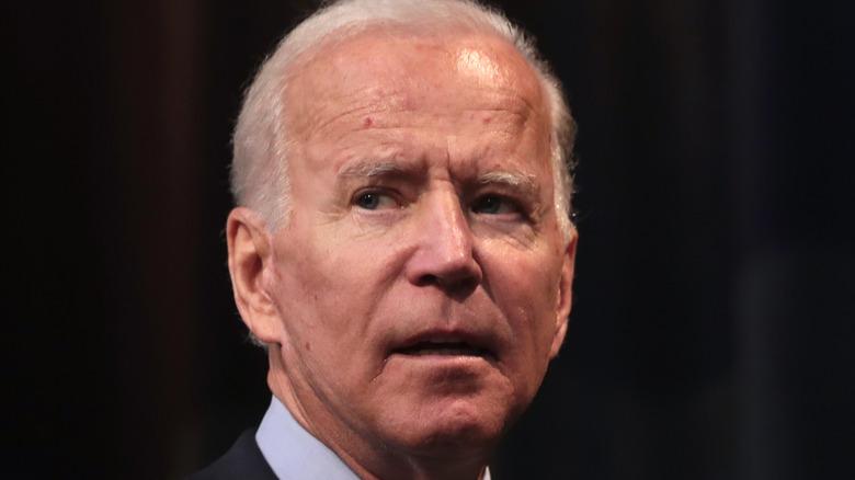 President Biden in closeup image