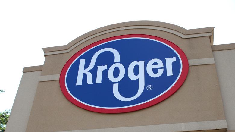 Kroger supermarket exterior signage