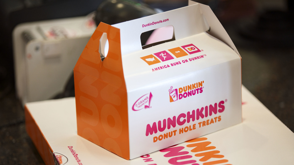 Box of Dunkin's Munchkins donut holes