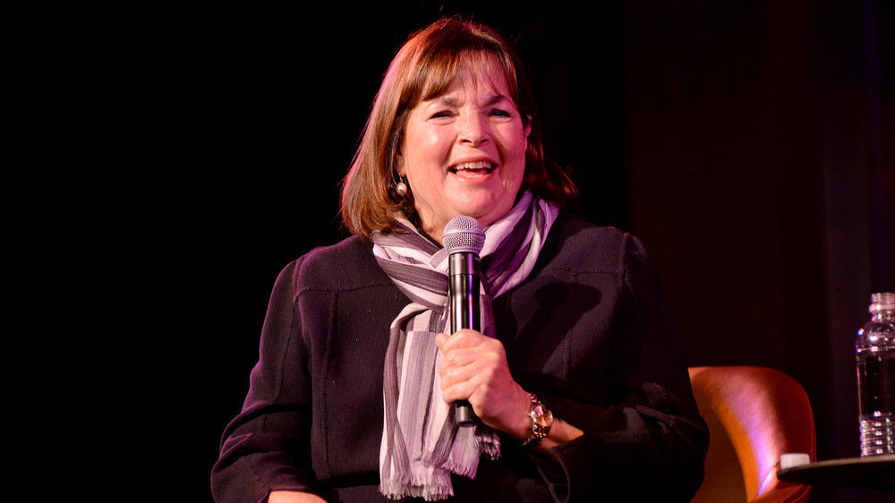 Ina Garten with a microphone
