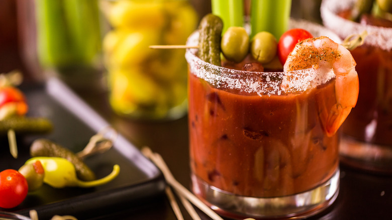 Bloody Mary in a small glass
