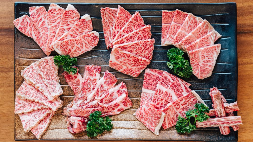 Several cuts of Wagyu beef