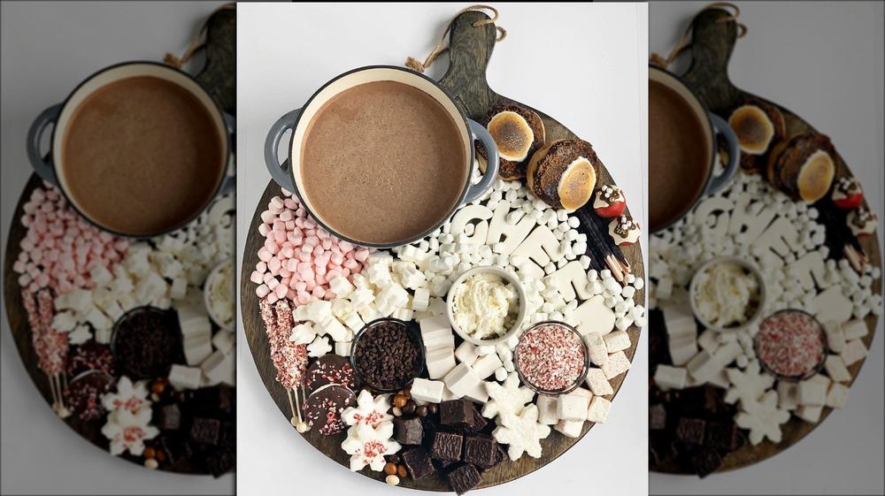 Festive hot chocolate board