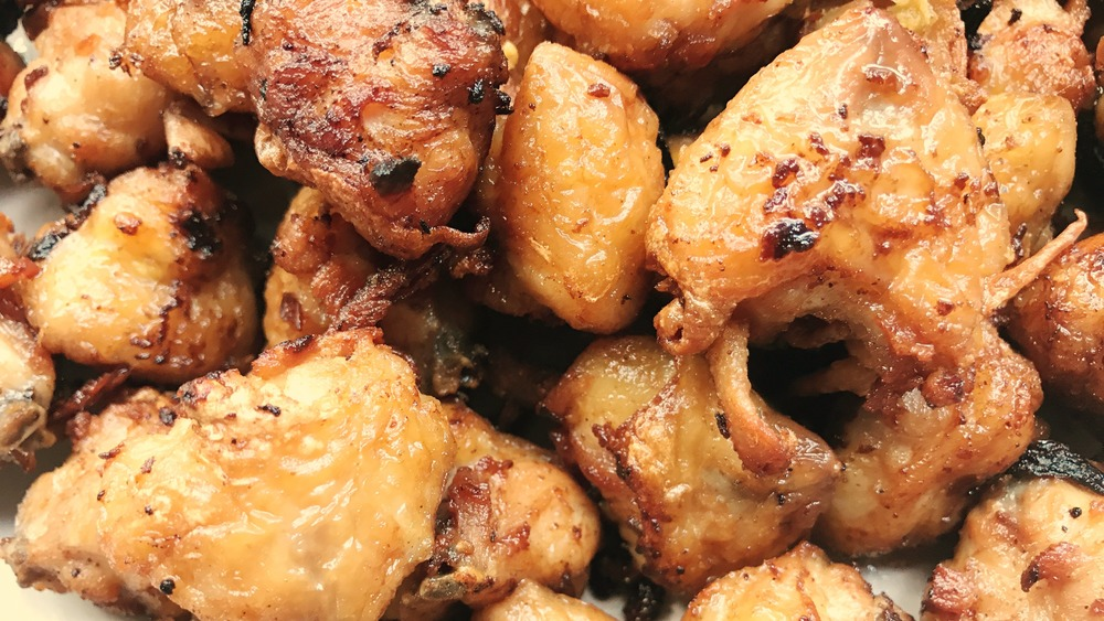 Fried poultry tailbones